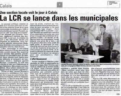 La LCR se lance dans les municipales
